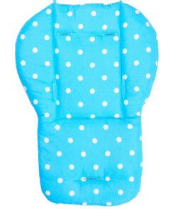 coussin chaise haute bleu