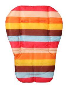 coussin chaise haute rayé multicolore