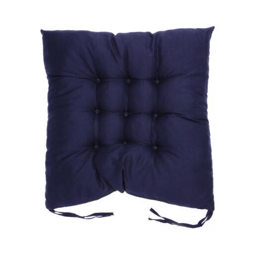 coussin de chaise carré bleu navy