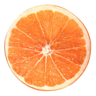 coussin fruit orange