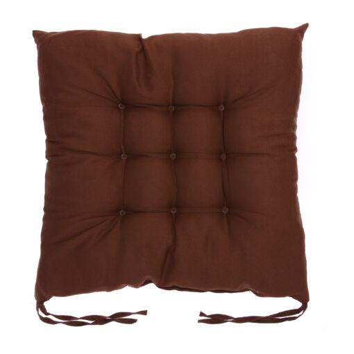 coussin de chaise carré marron