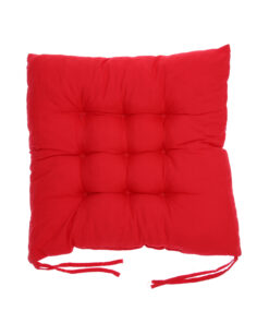 coussin de chaise carré rouge
