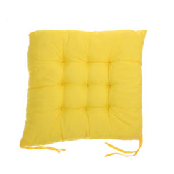 coussin de chaise carré jaune