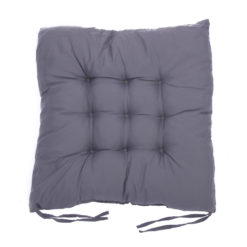 coussin de chaise carré gris