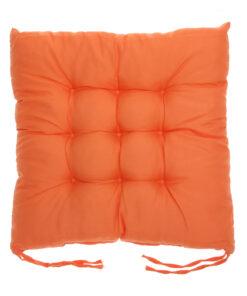coussin de chaise carré orange