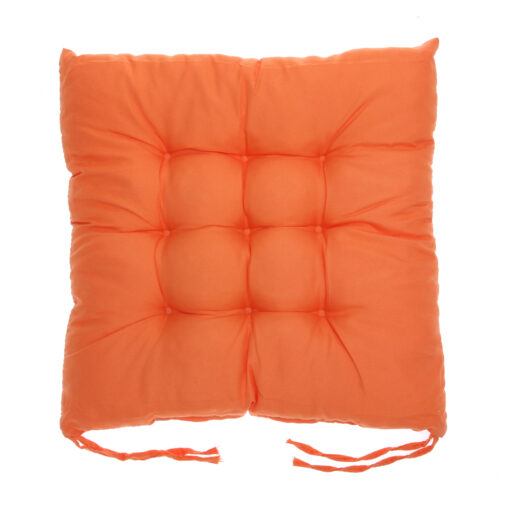 coussin de chaise carré orange