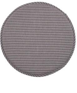 coussin de chaise rond gris