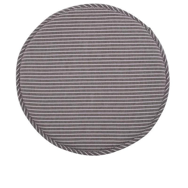 acheter coussin de chaise rond gris ray pas cher. Black Bedroom Furniture Sets. Home Design Ideas