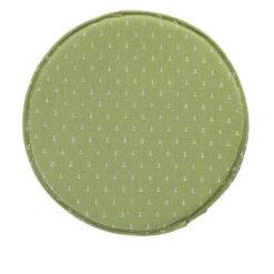 coussin de chaise rond vert