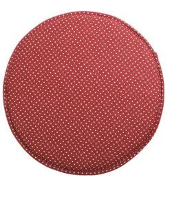 coussin de chaise rond rouge
