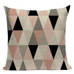 housse de coussin scandinave à motifs triangulaires