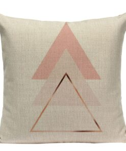 coussin scandinave rose