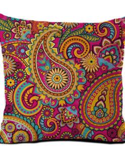 housse de coussin éthnique multicolore