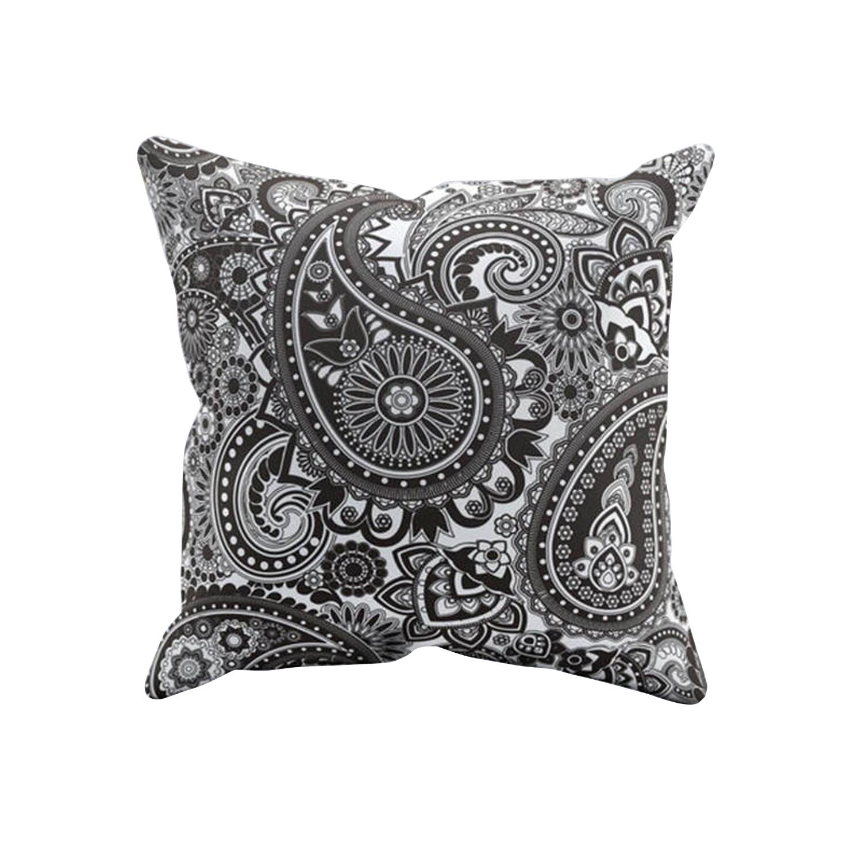acheter housse de coussin thnique noir et blanche pas cher boh me. Black Bedroom Furniture Sets. Home Design Ideas