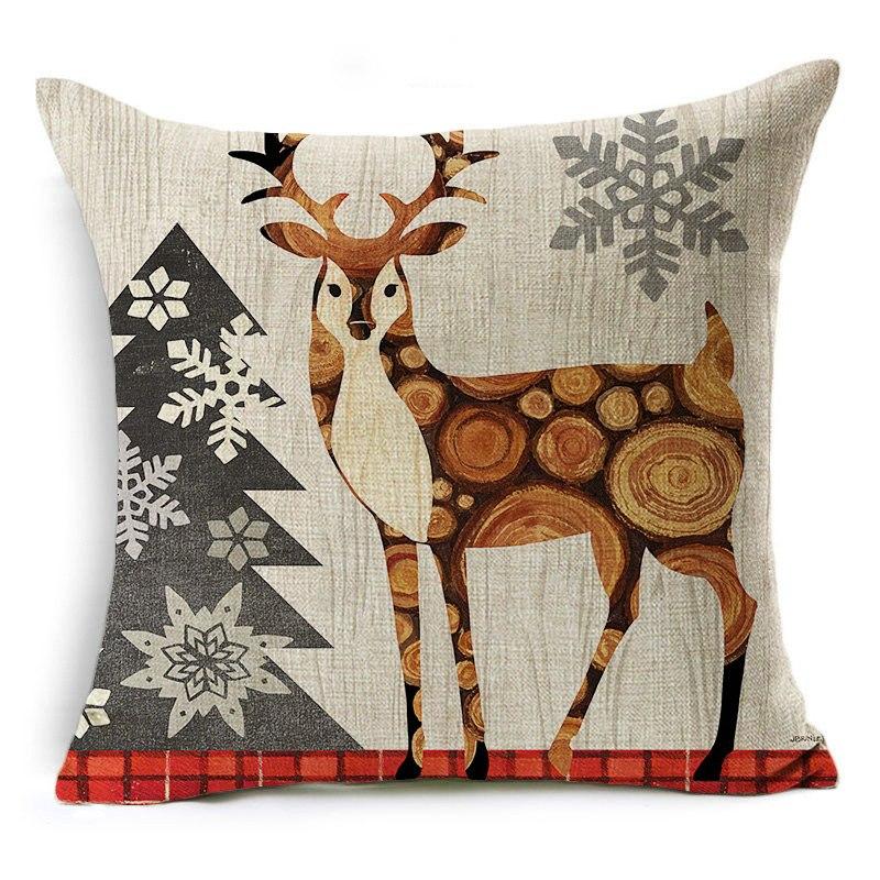 acheter housse de coussin cerf no l pas cher coussin noel d coration. Black Bedroom Furniture Sets. Home Design Ideas