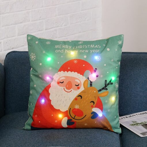 housse coussin pere noel