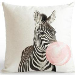 coussin zebre
