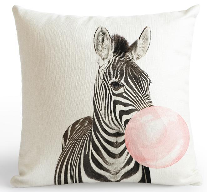 Acheter   Housse coussin zebre   Coussin animaux, original, déco