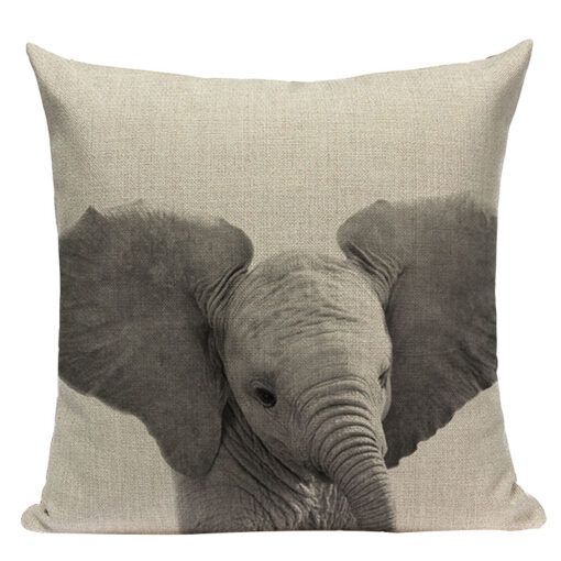 housse de coussin elephant