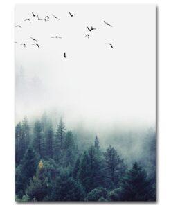 affiche paysage d'hiver