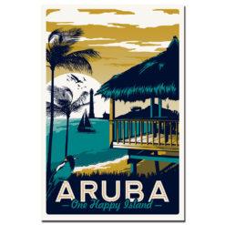 affiche vintage Aruba