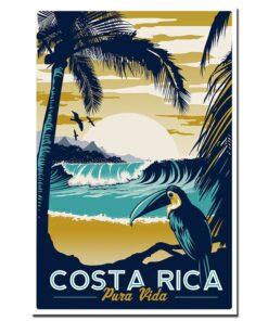 affiche vintage costa rica