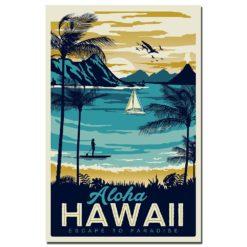 affiche vintage hawaii